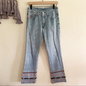 Vintage outlaw jeans bootcut flare embroidery